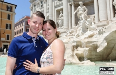 Surprise proposal & love shoot Rome, John & Paula