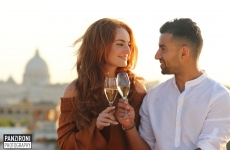 Surprise proposal & love shoot Rome, Mouzar & Sanna